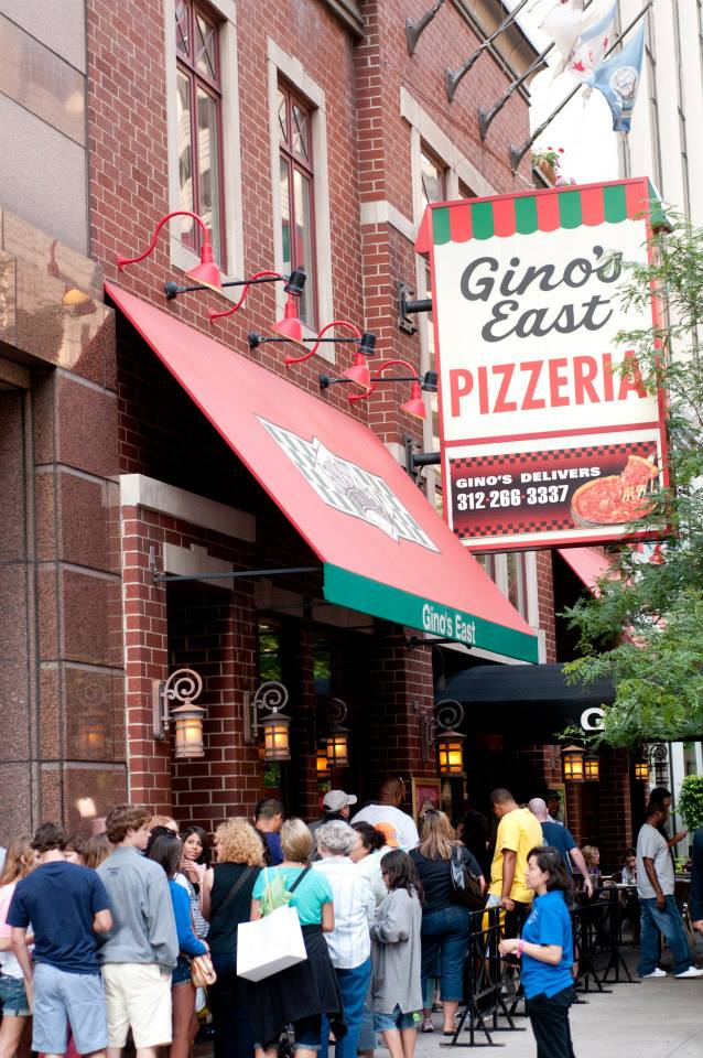 line down the street to enter Gino's East
